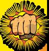 hand yellow background-sm