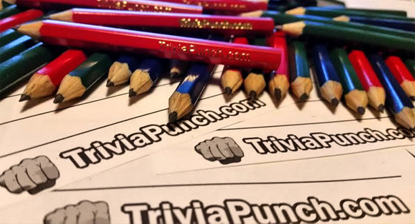 Trivia Answer Pads and Pensils